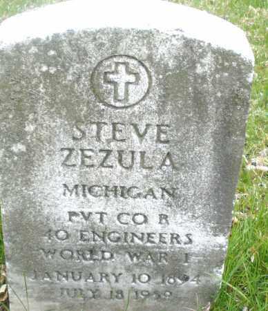 ZEZULA, STEVE - Montgomery County, Ohio   STEVE ZEZULA - Ohio Gravestone Photos