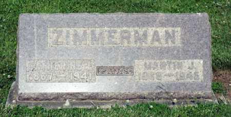 ZIMMERMAN, CATHERINE E. - Montgomery County, Ohio | CATHERINE E. ZIMMERMAN - Ohio Gravestone Photos