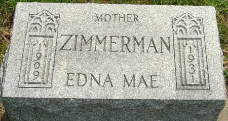 ZIMMERMAN, EDNA MAE - Montgomery County, Ohio | EDNA MAE ZIMMERMAN - Ohio Gravestone Photos