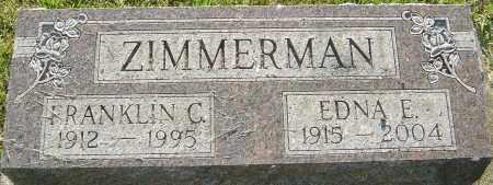 ZIMMERMAN, FRANKLIN C - Montgomery County, Ohio | FRANKLIN C ZIMMERMAN - Ohio Gravestone Photos