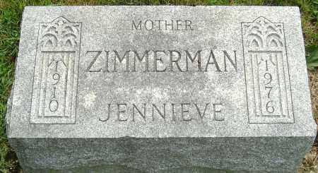 ZIMMERMAN, JENNIEVE - Montgomery County, Ohio | JENNIEVE ZIMMERMAN - Ohio Gravestone Photos