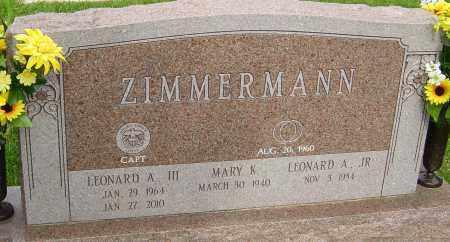 ZIMMERMAN, LEONARD A - Montgomery County, Ohio   LEONARD A ZIMMERMAN - Ohio Gravestone Photos