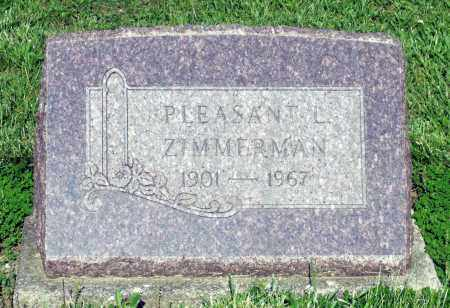 ZIMMERMAN, PLEASANT L. - Montgomery County, Ohio | PLEASANT L. ZIMMERMAN - Ohio Gravestone Photos