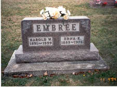 EMBREE, HAROLD W - Morgan County, Ohio   HAROLD W EMBREE - Ohio Gravestone Photos