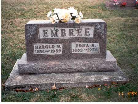 EMBREE, HAROLD W - Morgan County, Ohio | HAROLD W EMBREE - Ohio Gravestone Photos
