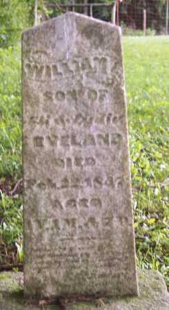 EVELAND, WILLIAM - Morgan County, Ohio | WILLIAM EVELAND - Ohio Gravestone Photos