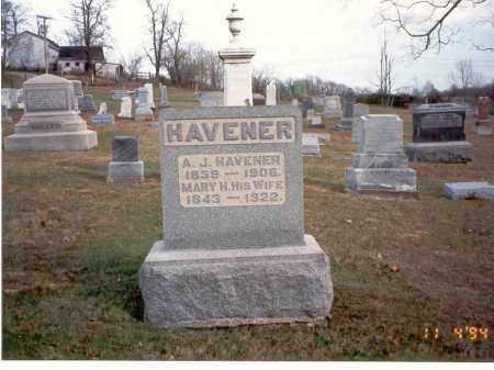 HAVENER, MARY H. - Morgan County, Ohio | MARY H. HAVENER - Ohio Gravestone Photos