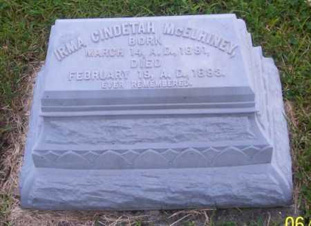 MCELHINEY, IRMA CINDETAH - Morgan County, Ohio | IRMA CINDETAH MCELHINEY - Ohio Gravestone Photos
