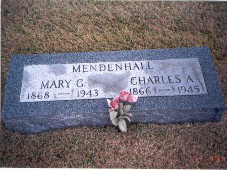 MENDENHALL, CHARLES A. - Morgan County, Ohio   CHARLES A. MENDENHALL - Ohio Gravestone Photos