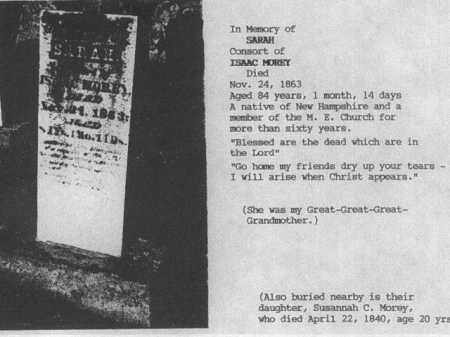 MOREY, SARAH - Morgan County, Ohio | SARAH MOREY - Ohio Gravestone Photos