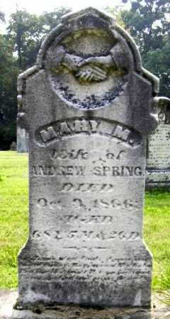 SPRING, MARY MARGARET - Morgan County, Ohio | MARY MARGARET SPRING - Ohio Gravestone Photos