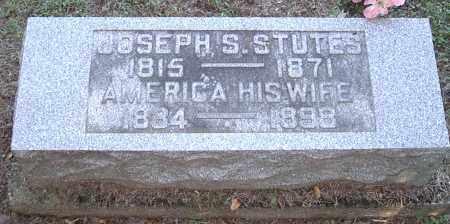 STUTES, AMERICA - Morgan County, Ohio   AMERICA STUTES - Ohio Gravestone Photos