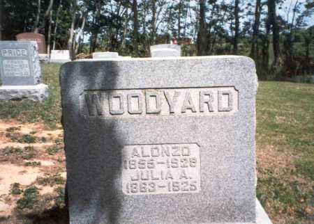 WOOLMAN WOODYARD, JULIA A. - Morgan County, Ohio   JULIA A. WOOLMAN WOODYARD - Ohio Gravestone Photos