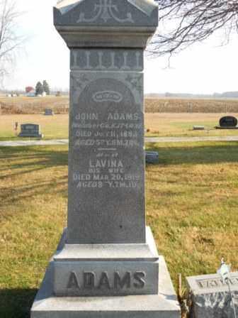 ADAMS, JOHN - Morrow County, Ohio | JOHN ADAMS - Ohio Gravestone Photos