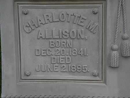 ALLISON, CHARLOTTE M. - Morrow County, Ohio | CHARLOTTE M. ALLISON - Ohio Gravestone Photos