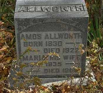 ALLWORTH, MARIA - Morrow County, Ohio | MARIA ALLWORTH - Ohio Gravestone Photos