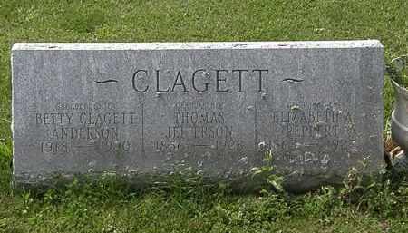 CLAGETT, ELIZABETH A. - Morrow County, Ohio | ELIZABETH A. CLAGETT - Ohio Gravestone Photos