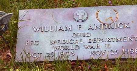 ANDRICK, WILLIAM F. - Morrow County, Ohio | WILLIAM F. ANDRICK - Ohio Gravestone Photos