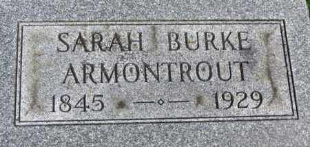 BURKE ARMONTROUT, SARAH - Morrow County, Ohio | SARAH BURKE ARMONTROUT - Ohio Gravestone Photos