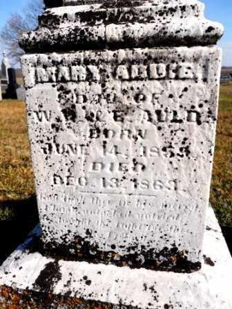 AULD, MARY ADDIE - Morrow County, Ohio   MARY ADDIE AULD - Ohio Gravestone Photos