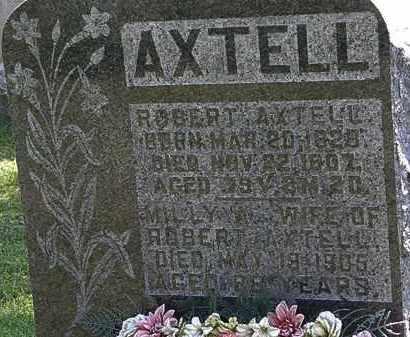 AXTELL, ROBERT - Morrow County, Ohio   ROBERT AXTELL - Ohio Gravestone Photos