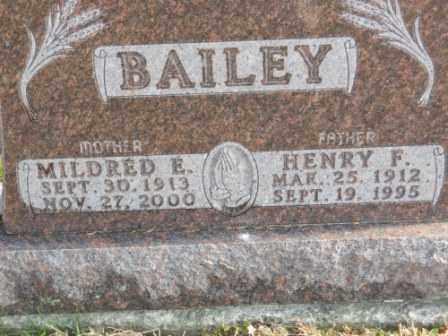 BAILEY, MILDRED E - Morrow County, Ohio   MILDRED E BAILEY - Ohio Gravestone Photos