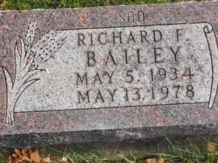 BAILEY, RICHARD F - Morrow County, Ohio | RICHARD F BAILEY - Ohio Gravestone Photos