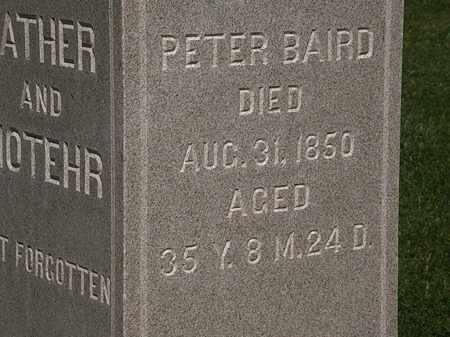 BAIRD, PETER - Morrow County, Ohio | PETER BAIRD - Ohio Gravestone Photos