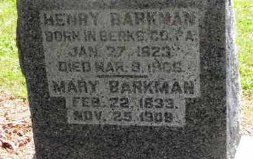BARKMAN, HENRY - Morrow County, Ohio | HENRY BARKMAN - Ohio Gravestone Photos