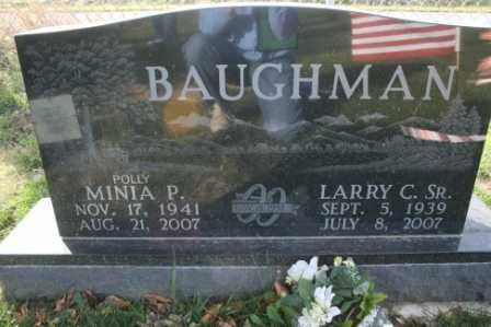 BAUGHMAN, MINIA POLLY - Morrow County, Ohio | MINIA POLLY BAUGHMAN - Ohio Gravestone Photos
