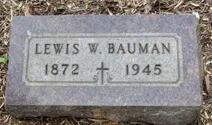 BAUMAN, LEWIS W. - Morrow County, Ohio | LEWIS W. BAUMAN - Ohio Gravestone Photos