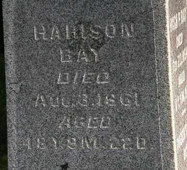 BAY, HARISON - Morrow County, Ohio | HARISON BAY - Ohio Gravestone Photos