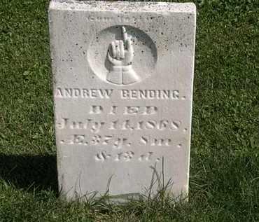 BENDING, ANDREW - Morrow County, Ohio   ANDREW BENDING - Ohio Gravestone Photos