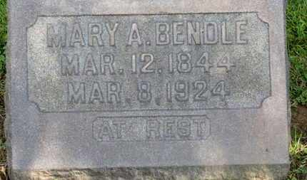 BENDLE, MARY A. - Morrow County, Ohio | MARY A. BENDLE - Ohio Gravestone Photos