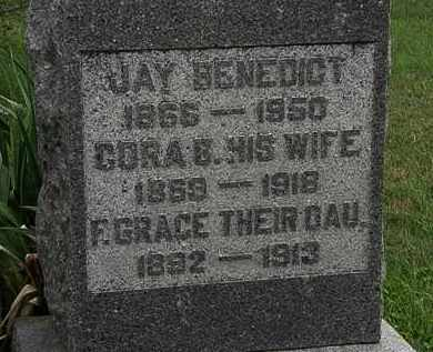 BENEDICT, F. GRACE - Morrow County, Ohio | F. GRACE BENEDICT - Ohio Gravestone Photos