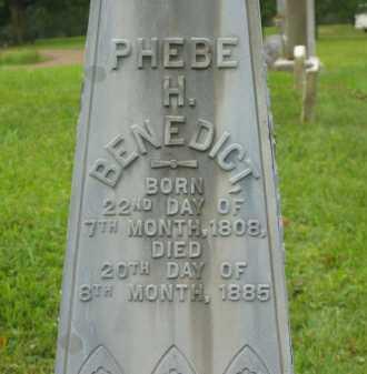 BENEDICT, PHEBE H. - Morrow County, Ohio | PHEBE H. BENEDICT - Ohio Gravestone Photos