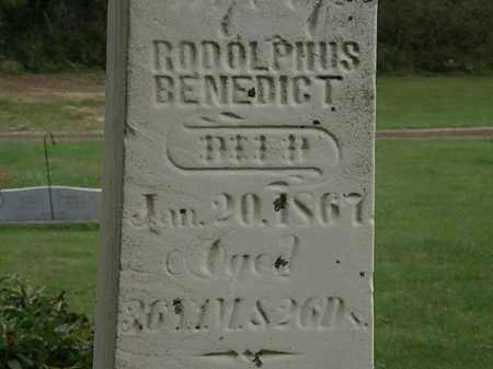 BENEDICT, RODOLPHUS - Morrow County, Ohio   RODOLPHUS BENEDICT - Ohio Gravestone Photos