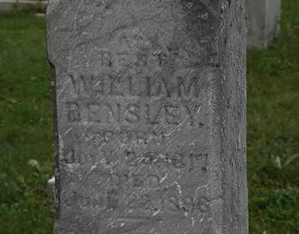BENSLEY, WILLIAM - Morrow County, Ohio | WILLIAM BENSLEY - Ohio Gravestone Photos