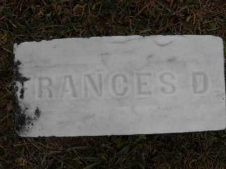 BLAIR, FRANCES D - Morrow County, Ohio | FRANCES D BLAIR - Ohio Gravestone Photos