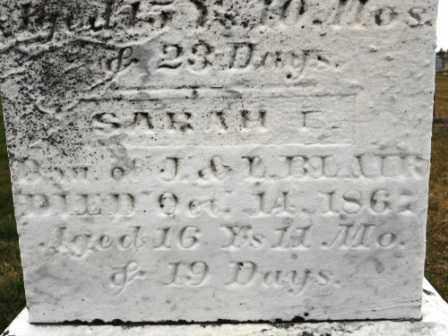 BLAIR, SARAH E - Morrow County, Ohio   SARAH E BLAIR - Ohio Gravestone Photos