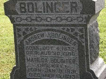 BOLINGER, ANDREW - Morrow County, Ohio | ANDREW BOLINGER - Ohio Gravestone Photos