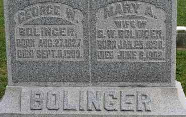 BOLINGER, GEORGE W. - Morrow County, Ohio | GEORGE W. BOLINGER - Ohio Gravestone Photos