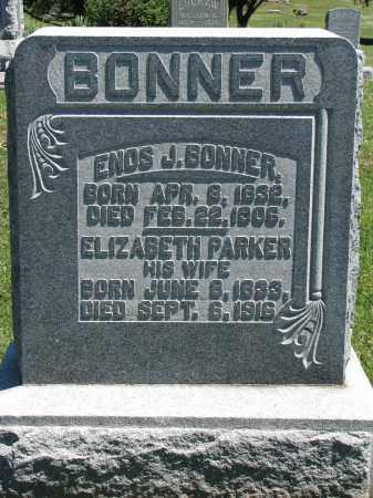 PARKER BONNER, ELIZABETH - Morrow County, Ohio | ELIZABETH PARKER BONNER - Ohio Gravestone Photos