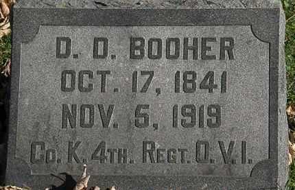 BOOHER, D. D. - Morrow County, Ohio | D. D. BOOHER - Ohio Gravestone Photos