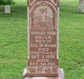 BOONE, ORPHA ANN - Morrow County, Ohio   ORPHA ANN BOONE - Ohio Gravestone Photos