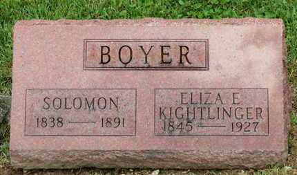 BOYER, SOLOMOM - Morrow County, Ohio | SOLOMOM BOYER - Ohio Gravestone Photos