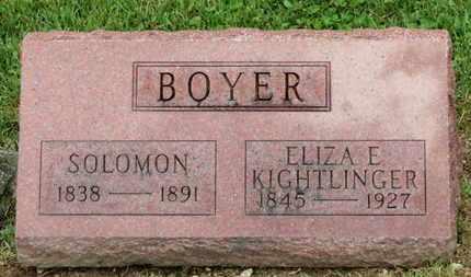 KIGHTLINGER BOYER, ELIA E. - Morrow County, Ohio | ELIA E. KIGHTLINGER BOYER - Ohio Gravestone Photos