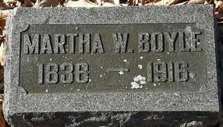 BOYLE, MARTHA W. - Morrow County, Ohio | MARTHA W. BOYLE - Ohio Gravestone Photos