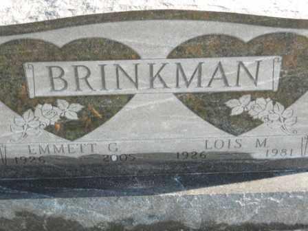 BRINKMAN, EMMETT G - Morrow County, Ohio   EMMETT G BRINKMAN - Ohio Gravestone Photos