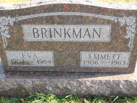 BRINKMAN, EVA - Morrow County, Ohio | EVA BRINKMAN - Ohio Gravestone Photos